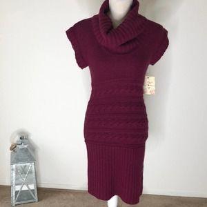 Derek Heart sweater dress burgundy/wine Size Med